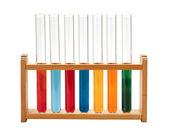 Test-tubes isolated on white. Laboratory glassware — Stock Photo