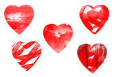 Red paint hearts — Stock Photo