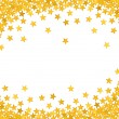 Stock Photo: Golden stars in the form of confetti on white