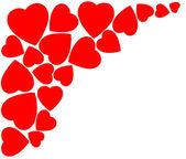 Hjärta för alla hjärtans dag bakgrund — Stockfoto