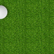 Golf ball on green grass of golf course — Stock fotografie #41095885