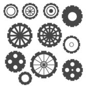 Abstract Cogs Isolated on White Background — 图库照片