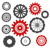 Abstract Cogs Isolated on White Background — Stock Photo