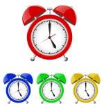 Set of Alarm Clocks Illustration Isolated on White Background — Stock Photo #43062575