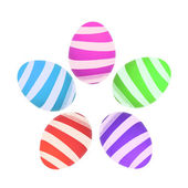 Colorful Easter egg isolated on white — Stock Photo