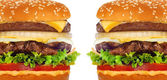 Big tasty cheeseburger ion white background — Stock Photo