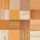 Collage of different wooden texture — Stock Photo