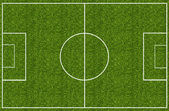 Soccer field green grass — Stock Photo