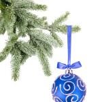 Christmas ball on the tree on white background — Stock Photo #7945844