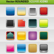 Square icons — Vector de stock #12081694