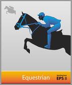 Equestre — Vettoriale Stock