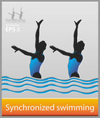 Synchronized swimming — Stock Vector