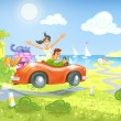 Driving to the Sea — Stock Photo