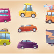 Cartoon Cars Set — Stock Vector