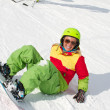 Lady snowboarder — Stock Photo #19448503