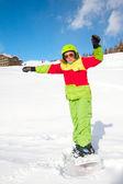 Senhora snowboarder — Foto Stock