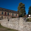 Novara Piedmont - roman empire wall ruins — Stock Photo