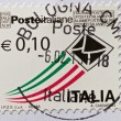 Italian stamp - Stock Photo