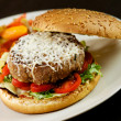 Hamburger - fast food - Stock Photo