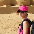 Beautiful tourist in Sondervig DK — Stockfoto