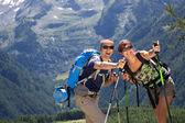 Couple trekking — Stock Photo