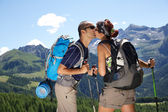 Paar trekking — Stockfoto