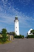 Stevns cliffs lighthouse - Denmark — Stockfoto