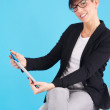 Business woman with digital tablet — Stock Photo #35960361