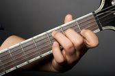 Major guitar chords — Stock Photo