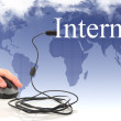 Concept: the Internet and the global network — Stock Photo #13999060