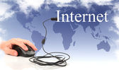 Concept: the Internet and the global network — Stock Photo