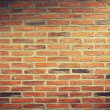 Urban background, red brick wall — Stock Photo