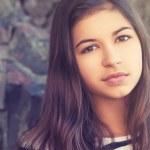 Beauty teenage girl outdoors — Stock Photo #39006383