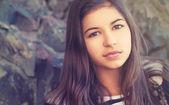 Beauty teenage girl outdoors — Stock Photo