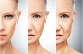 Concept of aging and skin care — Stock Photo