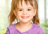 Face of happy  little girl child — Stock Photo