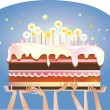 birthday cake — Stock Vector
