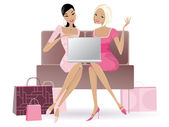 Shopping online — Stock Vector
