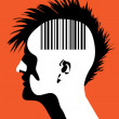 Stock Vector: Mwith barcode
