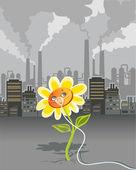 Environmental pollution — Stock Vector