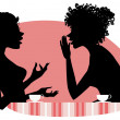 Two women talking — Imagen vectorial
