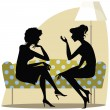 Stock Vector: Women talking