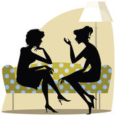 Women talking — Stock Vector