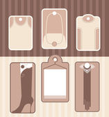 Set of labels for accessory or clothes — Stock Vector