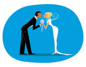 Bride and bridegroom — Stock Vector