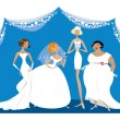 Different brides — Stock Vector #51412301