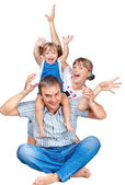 Cheerful family of three — Stock Photo