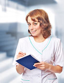 Portrait of a woman doctor — Stock Photo