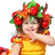 Portrait of a girl in a wreath - Stock Photo
