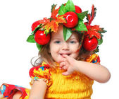 Portrait of a girl in a wreath — Stock Photo